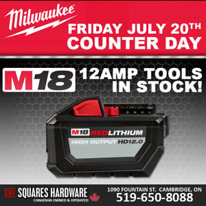 Milwaukee Demo Day - 12 amp Cordless Tools In Stock!