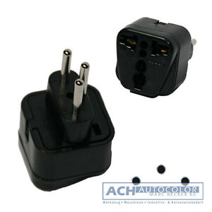 reisestecker adapter schuko kuppl schweiz stecker t rkei ruanda 048010 ebay. Black Bedroom Furniture Sets. Home Design Ideas