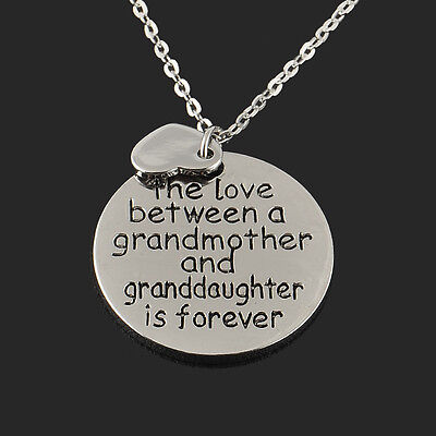 Family Best Gift Necklace Jewelry Forever Love Between Grandmother - Grandmother/granddaughter Gifts