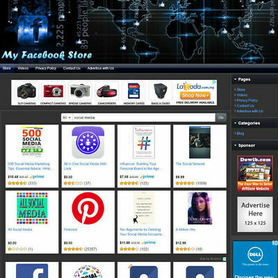 Book Store - Social Media Networking Online Affiliate Business Website For Sale