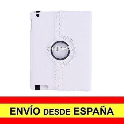 Funda Rotativa Piel Para IPAD 2/3/4 Carcasa Protector BLANCO EnvÍo 48/72H. a3519