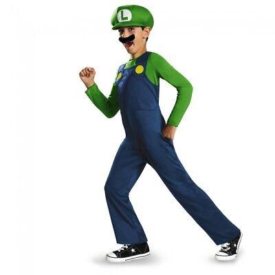 Disguise Super Mario Bros Luigi Klassisch Kind Jungen Halloween Kostüm - Luigi Kostüm Junge