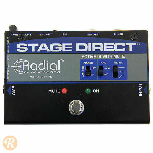Radial Stage Direct - DI Boxes with Mute & Tuner Output - Direct Input Live Use
