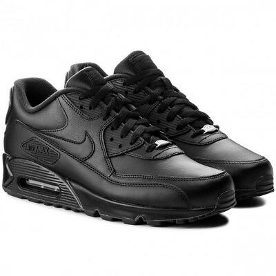 Men's Nike Air Max 90 Leather Black 302519-001