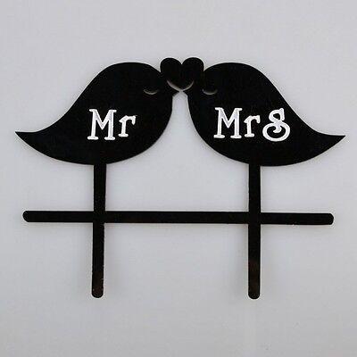Mr and Mrs Love Birds Wedding Cake Topper