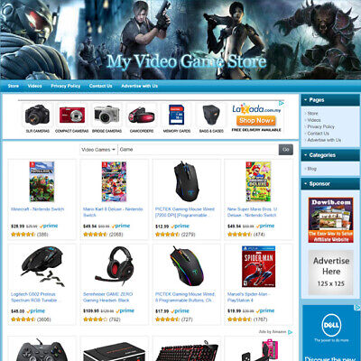 Video Game Store - Online Affiliate Business Website For Sale Free Domain Name