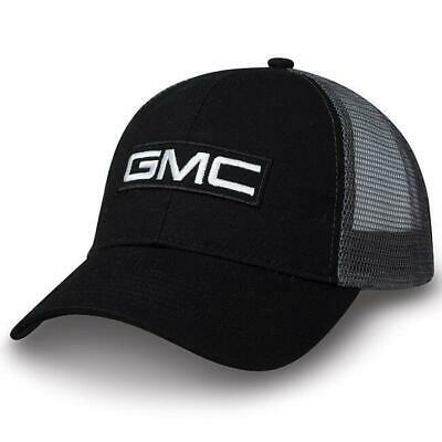 GMC TRUCK LOGO TWILL/MESH VALUE CAP SILVER BLACK NEW HAT - Truck Hats