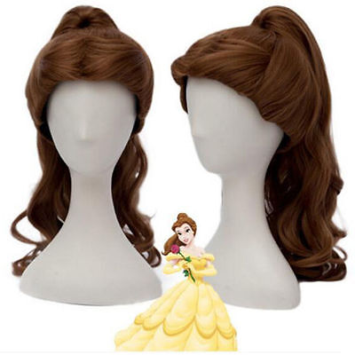 Beauty and the Beast Princess Belle Halloween Cosplay Party Wig Props For Adults - Princess Wigs For Adults