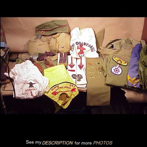 Large Lot 1950-60s Boy Scout Uniforms, Patches, Order of Arrow & Much More 30+