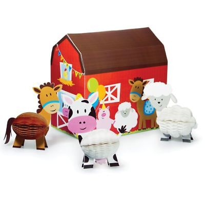 Farmhouse Fun 3-D Centerpiece Set Farm Birthday Party - Birthday Center Pieces