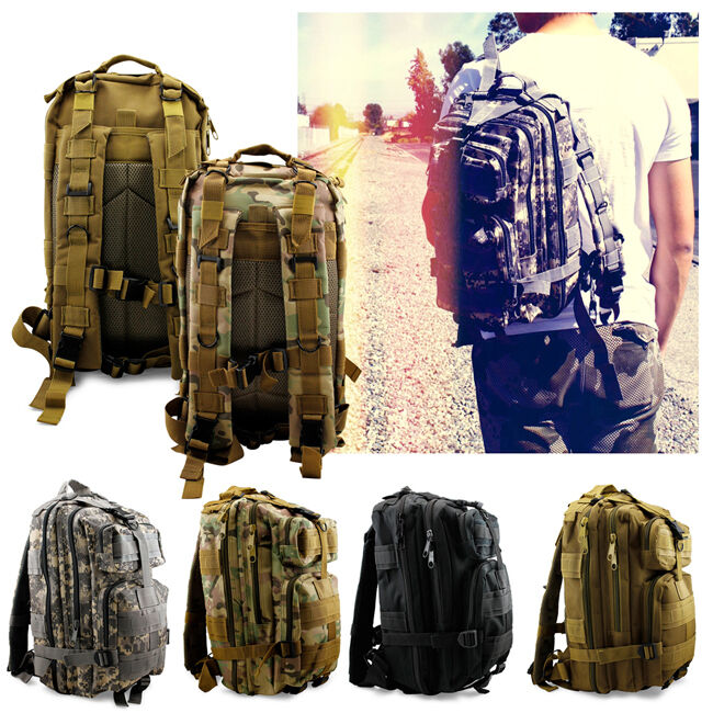 Bag - Vintage Mens Canvas Backpack Camping Travel Hiking Bag Sports Rucksack Schoolbag