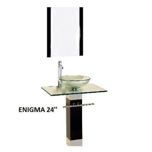 Vessel Vanity Sink Combo : Modern-Bathroom-Vanities-Pedestal-Glass-bowl-vessel-Sink-combo-w ...