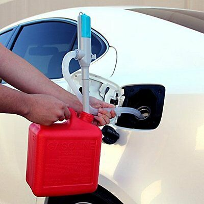 Fuel Transfer Pump Gas Diesel Liquid Oil Water Battery Operated Pumping Hose