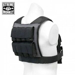 Xtreme Monkey 35,45 and 55lbs Adjustable Commercial Weight Vest