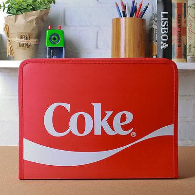 Coke File Folder Handle Case Storage Zipper Bag Organizer Holder School Office