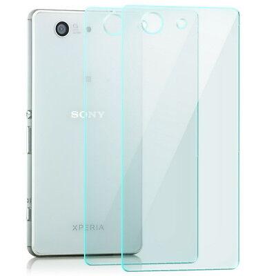 2x Schutz Glas Rückseite für Sony Xperia Z3 Compact Echt Glas Klar Schutz Folie (Screen Protector Für Xperia Z3)