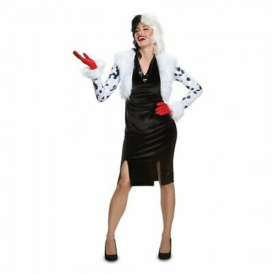 Dalmation Adult Costume (Disguise Cruella de Vil 101 Dalmations Delxue Adult Halloween Costume)