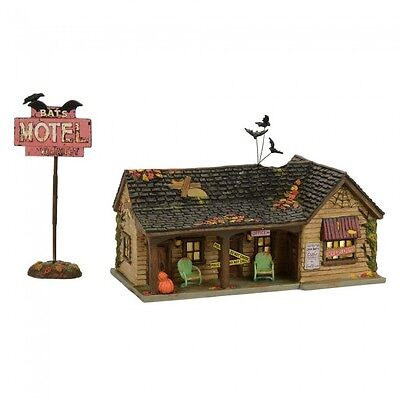 Department 56 Halloween Village New 2017 BAT'S MOTEL Set of 2 4056705 Dept 56