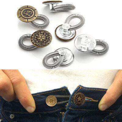 6PCS Men/Women Jeans Pants Instant Fix Expanders Waist Extender Button