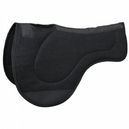 Tough-1 Black Felt Contour Endurance Saddle Pad Horse Tack