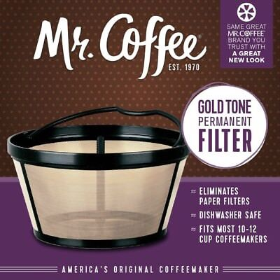 Reusable Basket Coffee Filter For 10-12 Cup Mr Coffee Maker Machine Permanent US