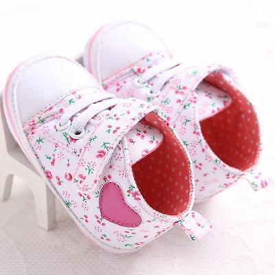 Summer Pink Baby Girls Kids Soft Sole Crib Shoes Infant Toddler Sneaker 12 US