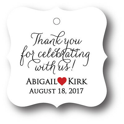 48 Thank You For Celebrating With Us  Personalized Wedding Favor Tag