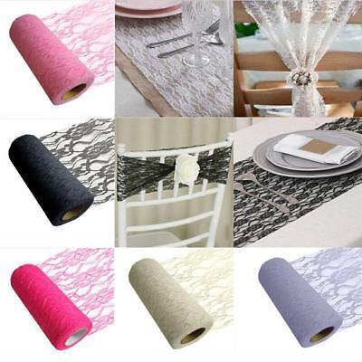 Tulle Lace Organza Roll Wedding Sash DIY Party Table Runner Chair Decor KI - Diy Wedding Chair Covers