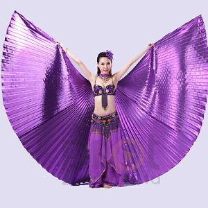 Egyptian-Egypt-Belly-Dance-one-piece-360-Isis-Wings-no-stick-10-colors