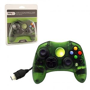 XBOX CONTROLLER S WIRED SOLID CLEAR GREEN FOR THE ORIGINAL XBOX BRAND NEW SEALED