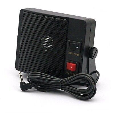 CRT MS-120 Zusatz Lautsprecher 5W / 8 Ohm mit Noise Filter -für CB Funk, Scanner