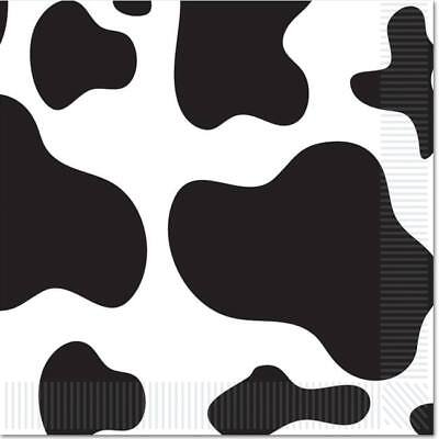 Farm Party Cow Print Luncheon Napkins 16 Pack Western Ranch Party Decor