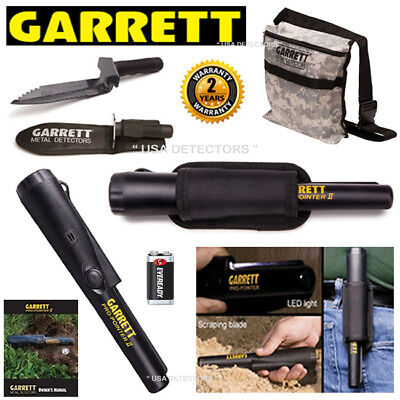 NEW Garrett PROPOINTER ll With EDGE Digger & Sheath Plus CAMO Pouch COMBO