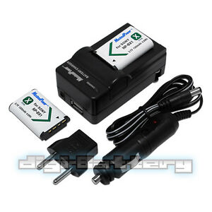 TWO BATTERIES + CHARGER Pack SONY NP-BX1 Action Cam DSC-RX1 Camera Battery X2