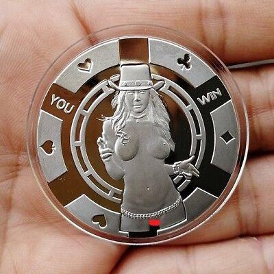Sexy Cowgirl / 1 oz .999 Fine Silver  Round Bar Bullion Coin SB1L7