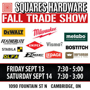 Squares Hardware Fall Trade Show is Here
