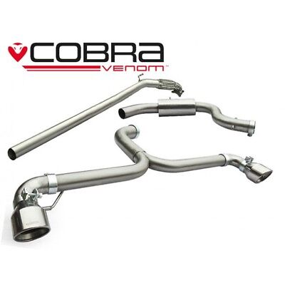 Cobra Sport VW Golf Mk6 5k GTI Turbo Back De-Cat BLACK TIP VENOM Exhaust VW40c