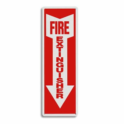 New 4 X 12 Rigid Plastic Arrow Fire Extinguisher Arrow Sign