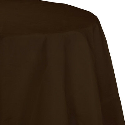 Brown 2/Ply Paper-Poly Round Tablecloth 82