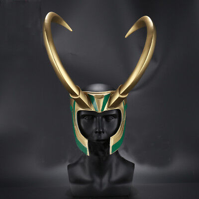 Movie Thor 3 Ragnarok The Avengers Loki Cosplay Mask Fancy Helmet Costume Props