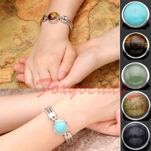 1-Punk-Alloy-Round-Gemstone-Chunk-Button-Charm-Snap-Fastener-Fit-Buckle-Bracelet
