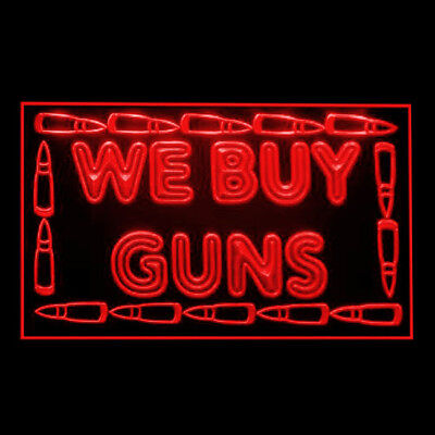 190218 We Buy Guns New Used Kingston Firearms Display LED Light Sign