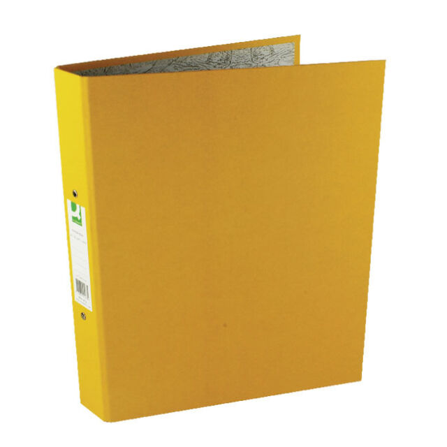 Q-CONNECT A4 RING BINDER 10 PACK YELLOW 2 RINGS PAPER OVER BOARD / KF01473