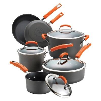 Hard Anodized Cookware Set Best Nonstick Kitchen Pots And Pans Rachael Ray