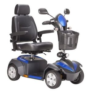 Drive Medical Ventura Power Mobility Scooter, 4 Wheels, Red/Blue
