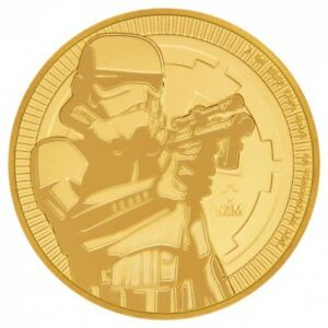1 oz Pièce Or Pur Star Wars Stormtrooper Fine Gold Coin 9999