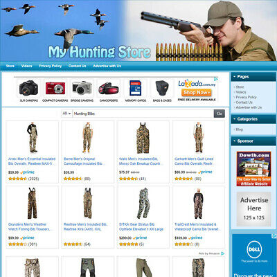 Hunting Store - Professionally Designed High Income Affiliate Website For Sale