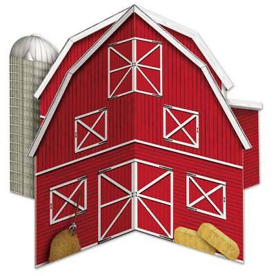 3-D Barn Centerpiece Farm Kids Birthday Party Decoration