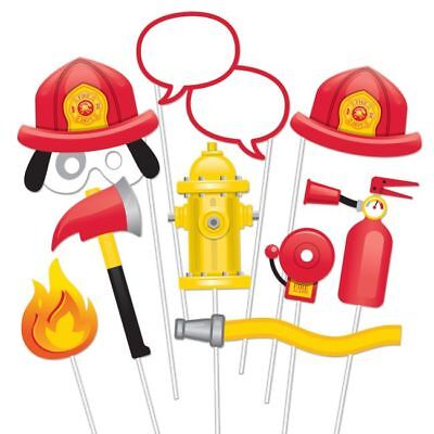 Flaming Fire Truck Photo Booth Props Firefighter Birthday - Fire Truck Birthday Decorations