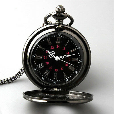 Kyпить Retro Vintage Antique Steampunk Quartz Necklace Pendant Pocket Watch Black New  на еВаy.соm